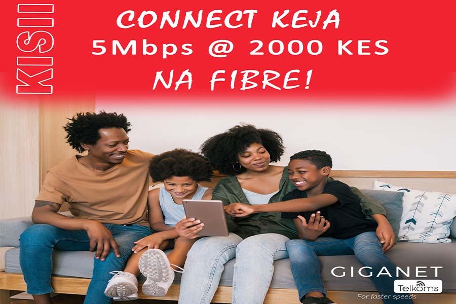 Giganet Telkoms Fibre WiFi in Kisii Town