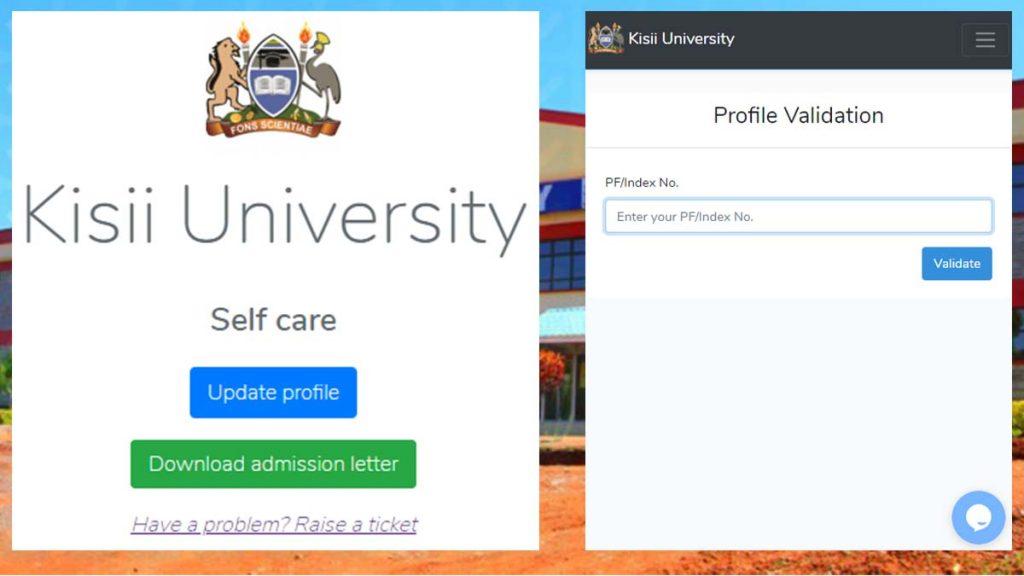 Kisii University admission letters selfcare