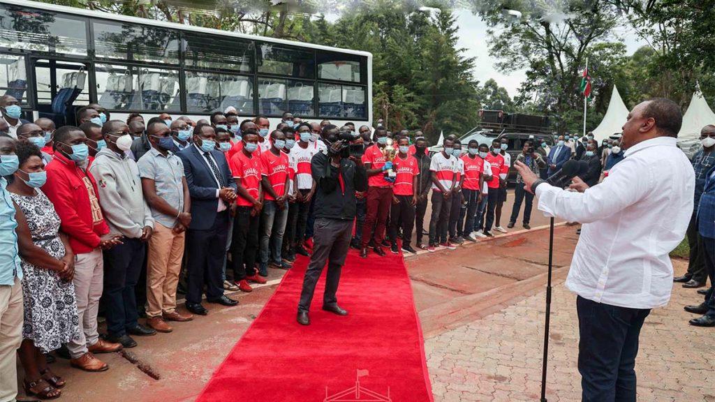 Shabana FC bus from President Uhuru kenyatta