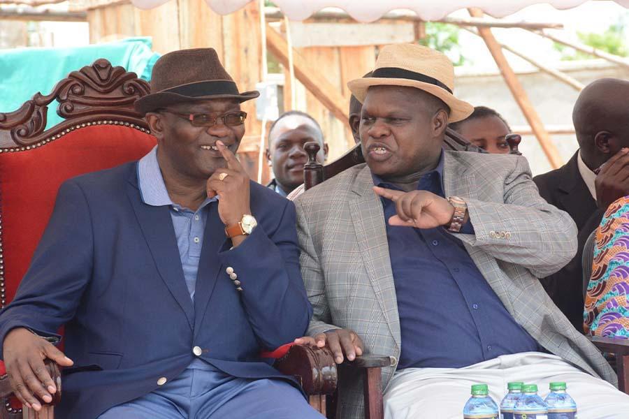 DG Joash Maangi and James Omariba Ongwae Kisii Governor