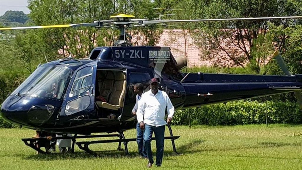 Gideon Moi wealth helicopter