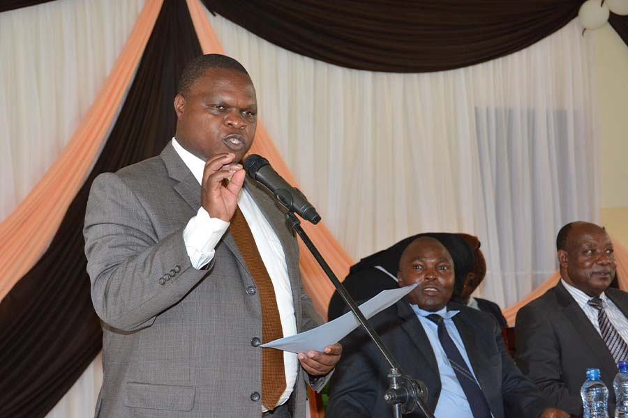 Kisii deputy governor addressing people in a meeting