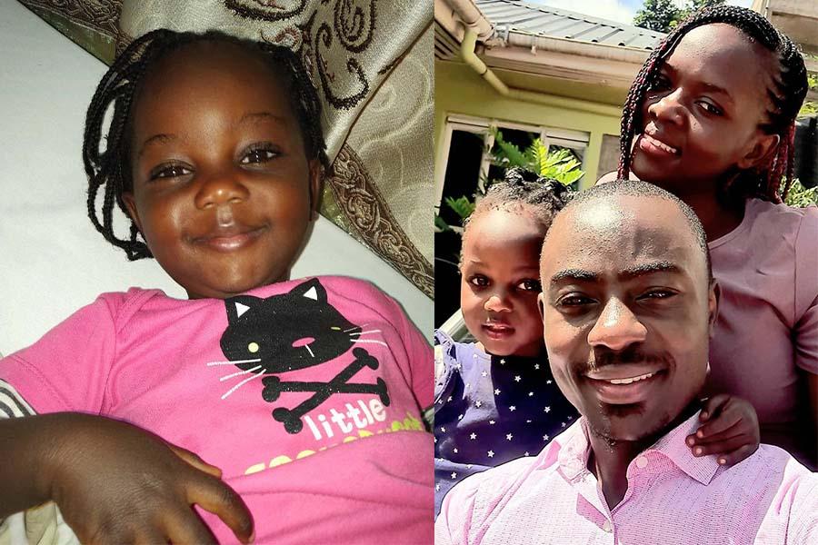 Duke Mainga Echate wife and daughter Afrika