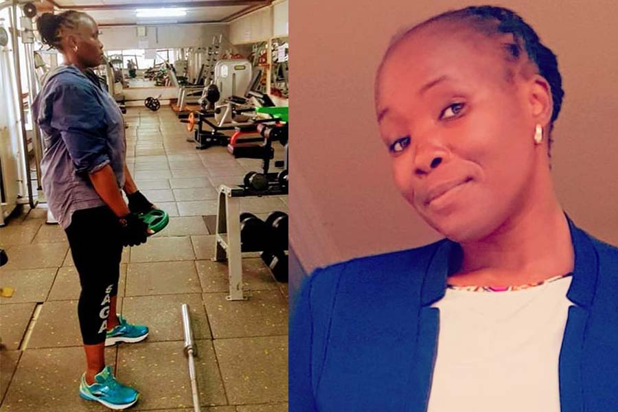 Citizen TV presenter working out at the gym, health routines