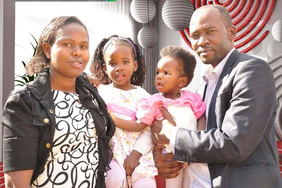 Emcee Sorobi Moturi family, wife and 2 daughters in 2015