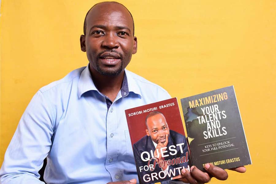 MC Sorobi Moturi Erastus books on personal growth and talents