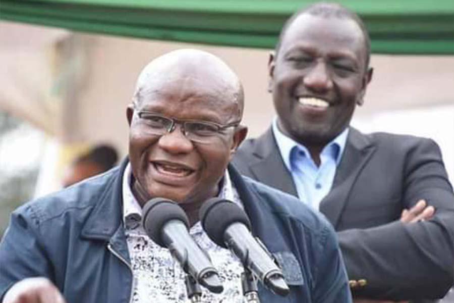 MP James Omingo Magara and William Ruto of UDA Party
