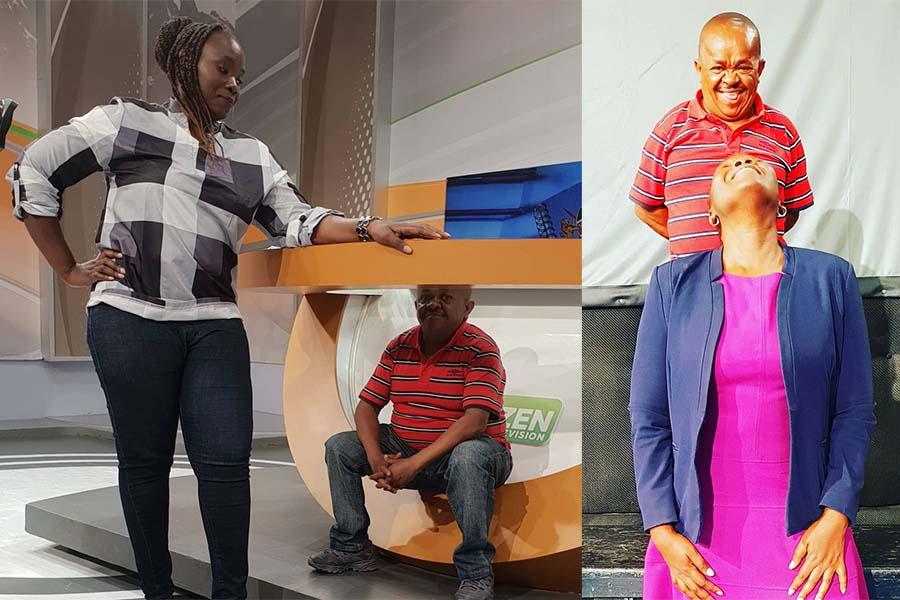 Radio Citizen presenter @tinaogal nd Inspector Mwala Citizen TV