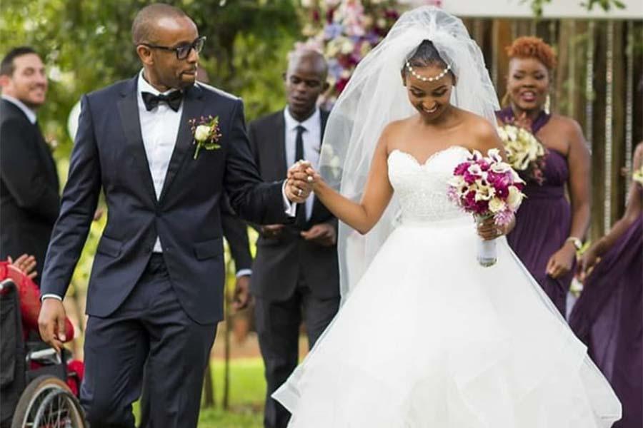 Actress Sarah Hassan wedding husband Martin Dale