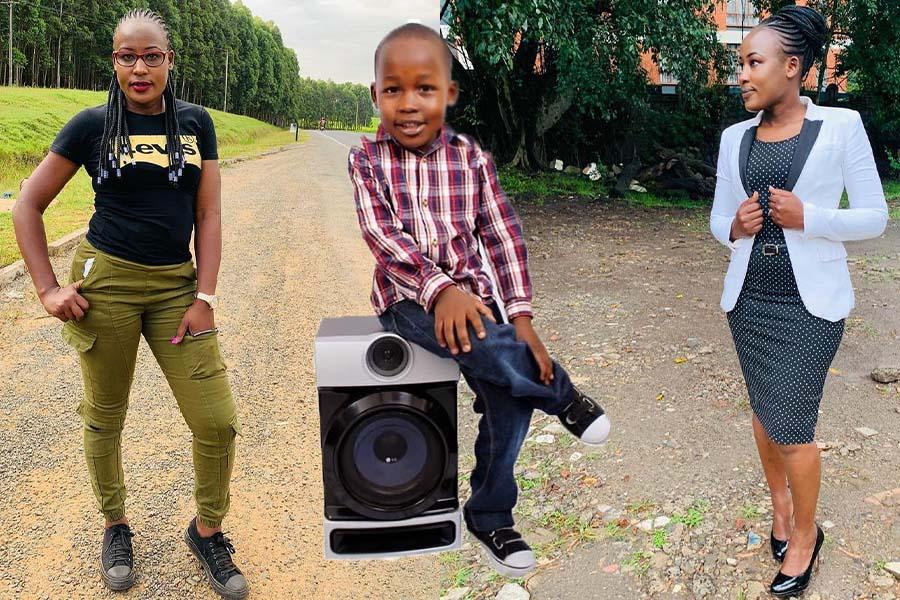 Egesa FM presenter Embaka na Nana Ediva son Wayne Antony