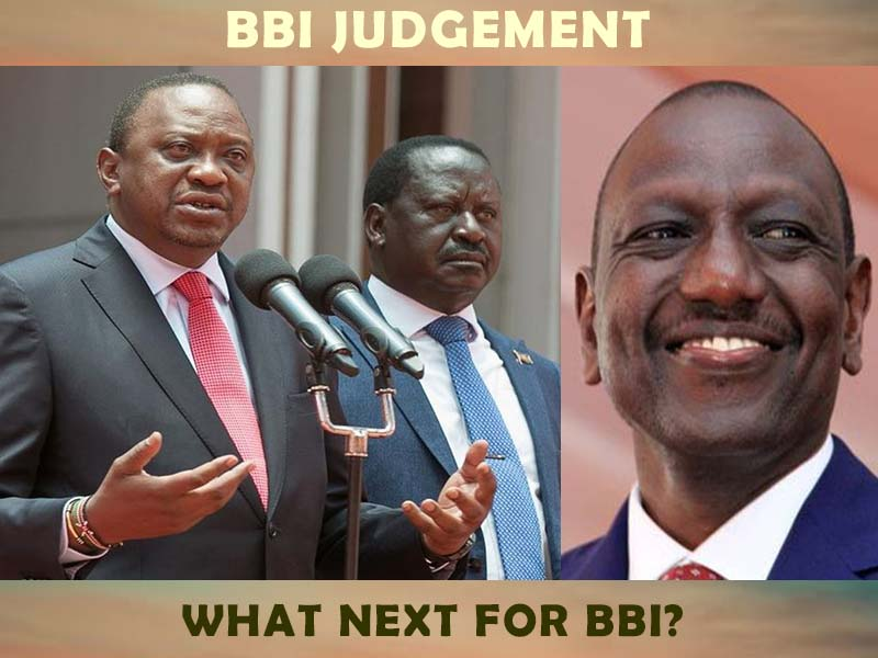 BBI judgement summary, why courts declared Kenya's BBI process unconstitutional, null and void, Uhuru, Raila, Ruto today