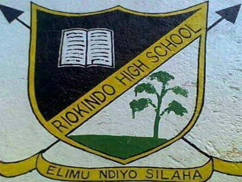Riokindo high school performance 2020, KCSE mean grades, code, student scores, results analysis