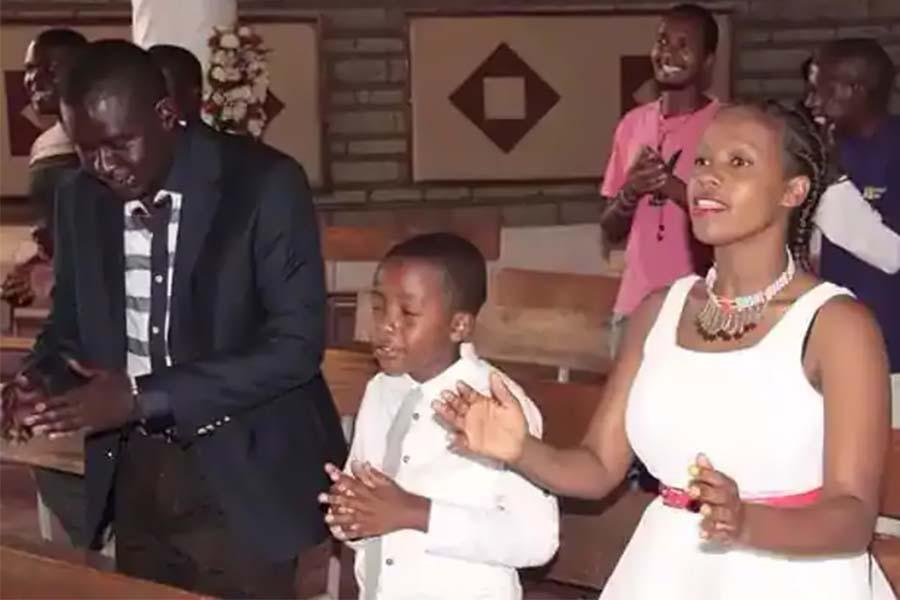 Photo: Churchill Daniel Ndambuki wife photos, son, children, family background . SRC: Tuko.com
