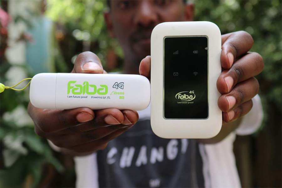 Faiba MiFi modem cost at JTL shops, speed test, and customer care contacts