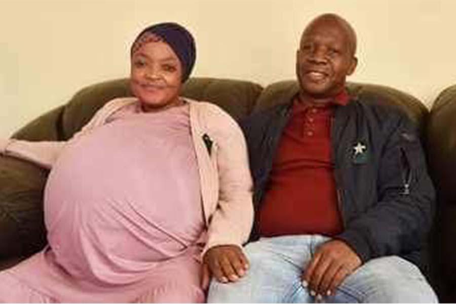 Gosiame Thamara Sithole husband Teboho Tsotetsi, 6 year old twins, decuplets, 7 boys, 3 girls